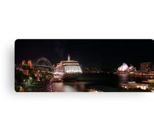 Queen Victoria between the icons Canvas Print