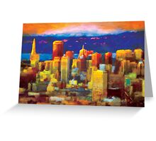"""Golden City"" Greeting Card"