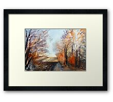 Autumn wind on the edge of the field Framed Print