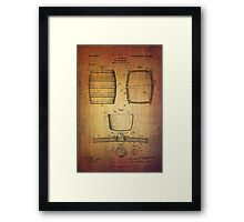 J.c.roth Beer Keg Patent From 1898 Framed Print