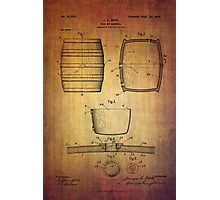 J.c.roth Beer Keg Patent From 1898 Photographic Print