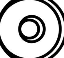 Mandala 5 Back In Black Sticker