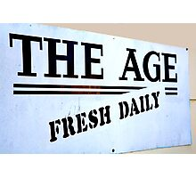 The Age = Fresh Daily Photographic Print