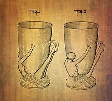 Beer Mugs Patent From 1934 by Eti Reid