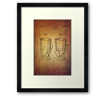 Beer Mugs Patent From 1934 Framed Print