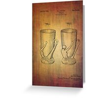 Beer Mugs Patent From 1934 Greeting Card