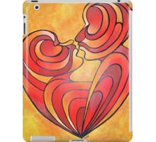 Lovers Kiss And Their Bodies Form A Love Heart iPad Case/Skin