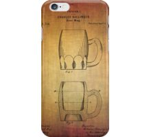Beer Mug Patent From 1872 iPhone Case/Skin