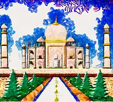 The Taj Mahal a Monument to Love - all products bar duvet by Dennis Melling