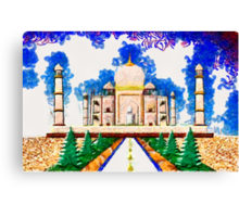 The Taj Mahal a Monument to Love - all products bar duvet Canvas Print