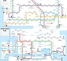 Hong Kong-Shenzhen metro map  by Jug Cerovic