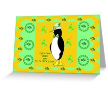 Irish Penguin Greeting Card