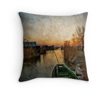 Morning at the lake Throw Pillow