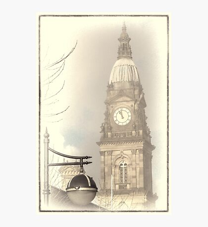 Bolton Town Hall Clock  Photographic Print