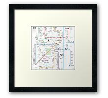 Delhi metro map  Framed Print