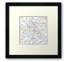 Paris metro map Framed Print