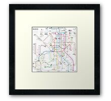 Madrid metro map Framed Print
