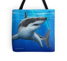 Blue Predator - Great White Shark Tote Bag
