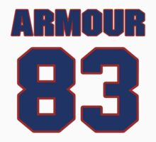 National football player Justin Armour jersey 83 by imsport