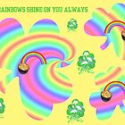Rainbow Shamrocks by kabsannie