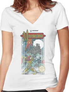 Metroidvania Women's Fitted V-Neck T-Shirt