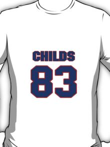 National football player Henry Childs jersey 83 T-Shirt