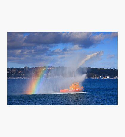 Fire Water Rainbow Photographic Print