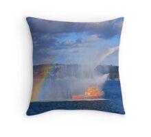 Fire Water Rainbow Throw Pillow