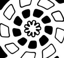 Mandala 29 Back In Black Sticker