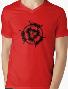 Mandala 28 Back In Black Mens V-Neck T-Shirt
