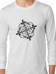 Mandala 26 Back In Black Long Sleeve T-Shirt