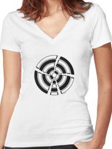 Mandala 25 Back In Black Women's Fitted V-Neck T-Shirt