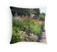 The Herbaceous Border Throw Pillow