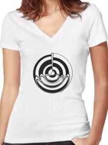 Mandala 19 Back In Black Women's Fitted V-Neck T-Shirt