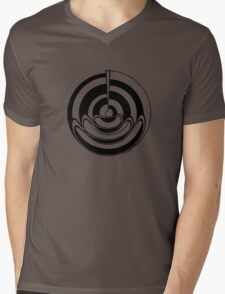 Mandala 19 Back In Black Mens V-Neck T-Shirt