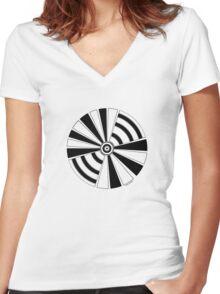 Mandala 17 Back In Black Women's Fitted V-Neck T-Shirt