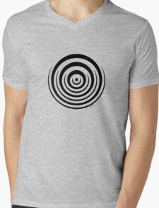 Mandala 16 Back In Black Mens V-Neck T-Shirt