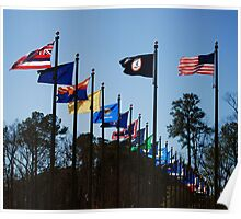 Flags In The Breeze Poster