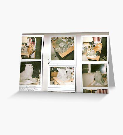 pomeranian sculptures Greeting Card