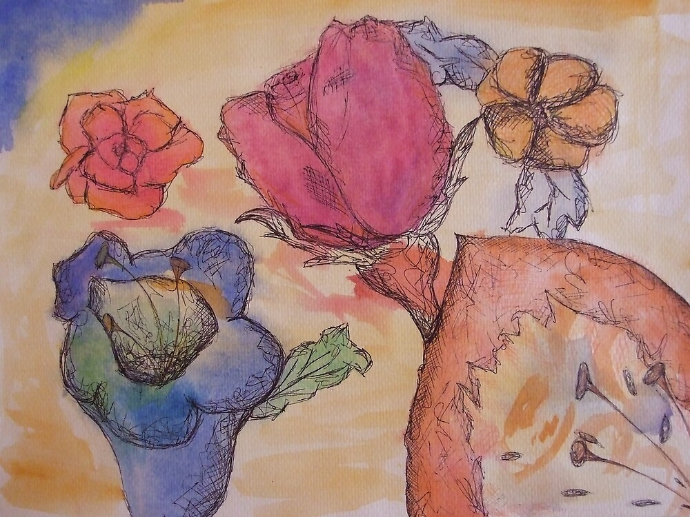 Asorted Flower drawing  by Gemma27