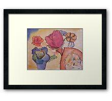 Asorted Flower drawing  Framed Print