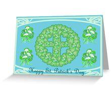 Shamrock wreath with cross Greeting Card