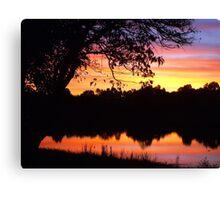 Boring sunset shot Canvas Print