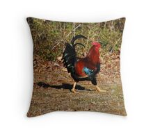 Rooster Trot Throw Pillow