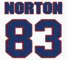 National football player Jim Norton jersey 83 by imsport
