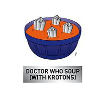Doctor Who Krotons Soup Photographic Print