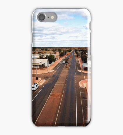 The main street of Menzies (photo Dave Carter) iPhone Case/Skin