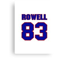 National football player Eugene Rowell jersey 83 Canvas Print