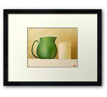 Green Pitcher Framed Print