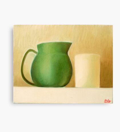 Green Pitcher Canvas Print
